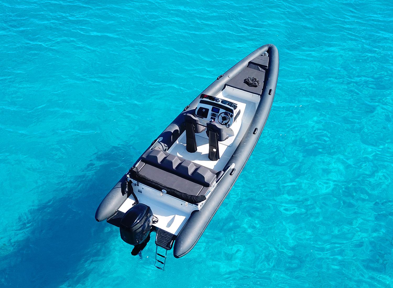 aboard a rib or a yacht